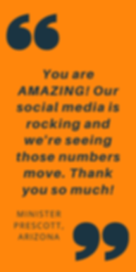 You are AMAZING! Our social media is roc