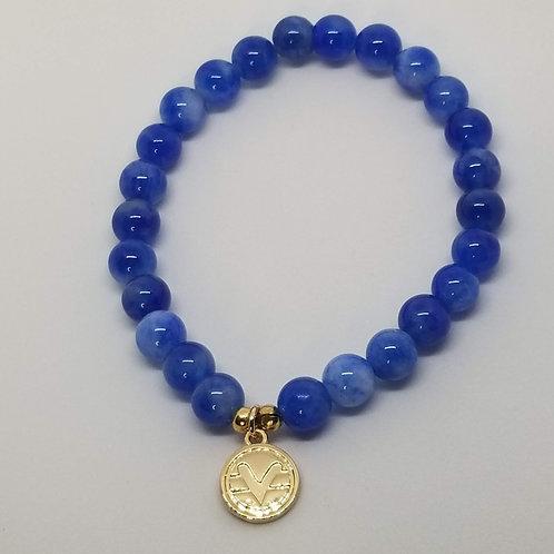 Science of Mind Beaded Bracelet in Blueberry Jade