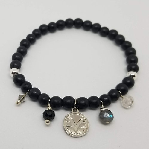 Charmed Science of Mind Bracelet in Matte Black Onyx