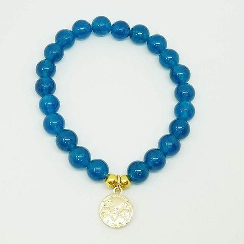 Science of Mind Beaded Bracelet in Peacock Jade