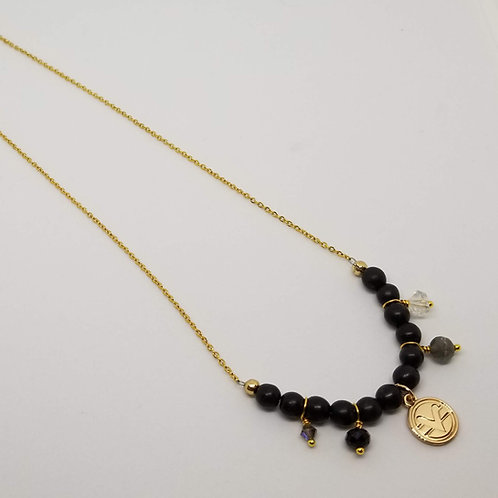 Charmed Science of Mind Necklace in Matte Black Onyx