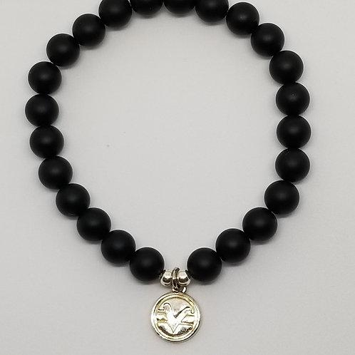 Science of Mind Beaded Bracelet in Matte Black Onyx