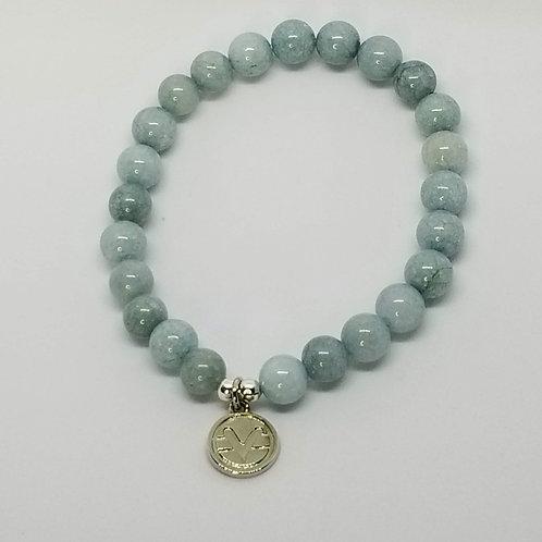 Science of Mind Beaded Bracelet in Aquamarine