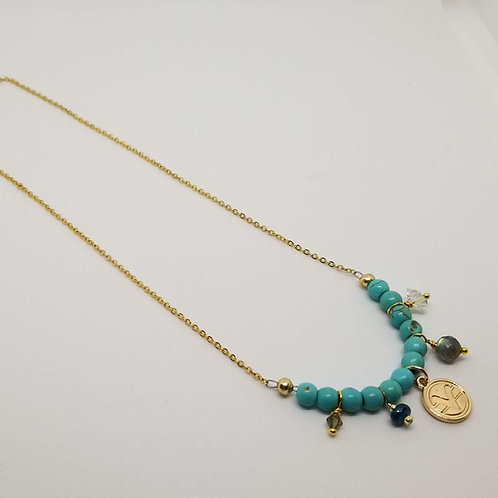 Charmed Science of Mind Necklace in Turquoise Howlite