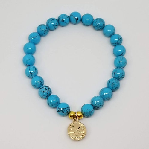 Science of Mind Beaded Bracelet in Turquoise Howlite