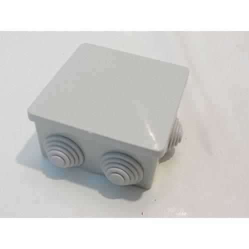 Boîte de dérivation carré 80X80X40mm grise étanche 6 entrées