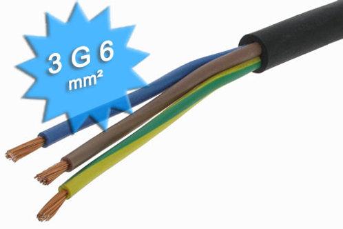 CABLE RIGIDE U-1000 R2V 3G6MM2 NOIR (PRIX AU M)