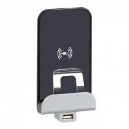 LEGRAND CÉLIANE CHARGEUR INDUCTION 1000 MA + MODULE DE CHARGE USB 2400 MA