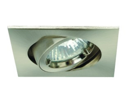 spot led orientable carré blanc /alu gu10 6w vision el complet