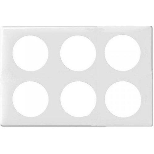 LEGRAND Céliane Plaque Memories 6 postes Yesterday blanc - 068609