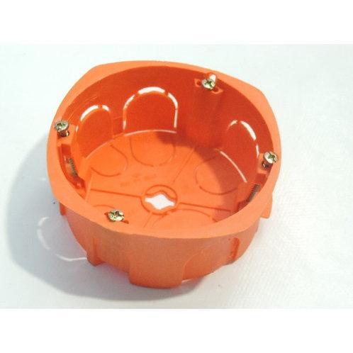 Boite d'encastrement 32A diam 86mm prof 40mm orange grande taille SIB ADR
