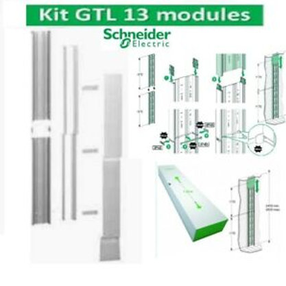 SCHNEIDER Resi9 Goulotte GTL 13 modules 2 compartiments clipsable - R9HKT13