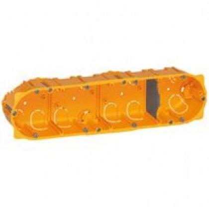 LEGRAND 080044 BOÎTE QUADRUPLE  BATIBOX  - PROF. 40 MM