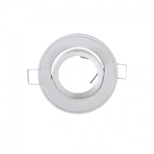 VISION-EL SUPPORT PLAFOND ROND INCLINABLE BLANC Ø86 MM
