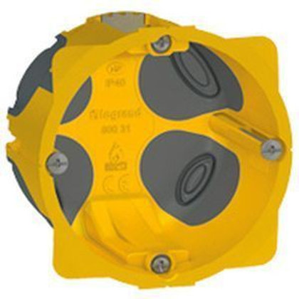 LEGRAND 080031 BOÎTE MONOPOSTE  BATIBOX ENERGY - PROF. 50 MM