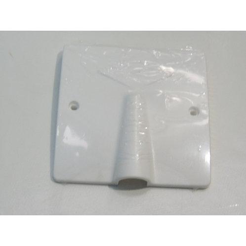 Sortie de cable 20/32A blanche 100X100mm  Ø86mm