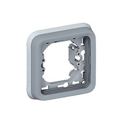 SUPPORT PLAQUE POUR ENCASTRÉ LEGRAND PLEXO COMPOSABLE GRIS - 1 POSTE