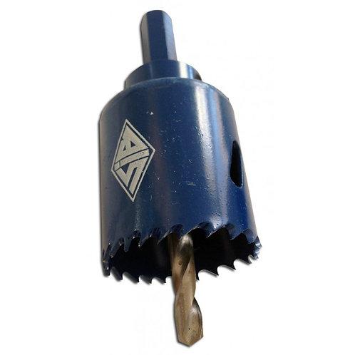 Scie cloche Ø 40mm HSS bi-métal monobloc bleue avec foret perçage