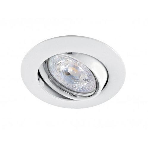 spot led orientable blanc /alu gu10 6w vision el complet