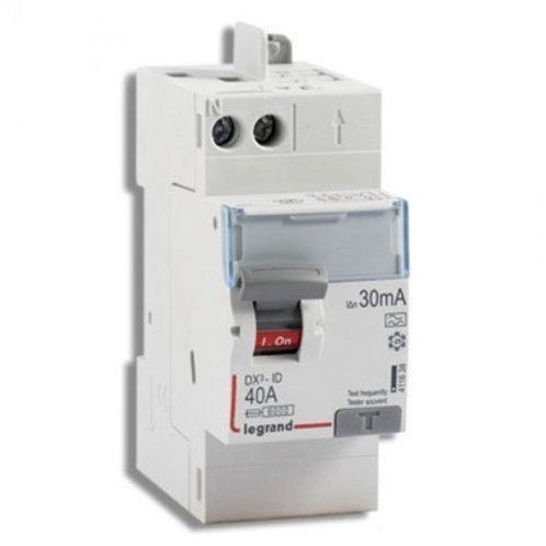 LEGRAND 411638 DX3 Interrupteur différentiel 40A 30mA type A auto 230V -