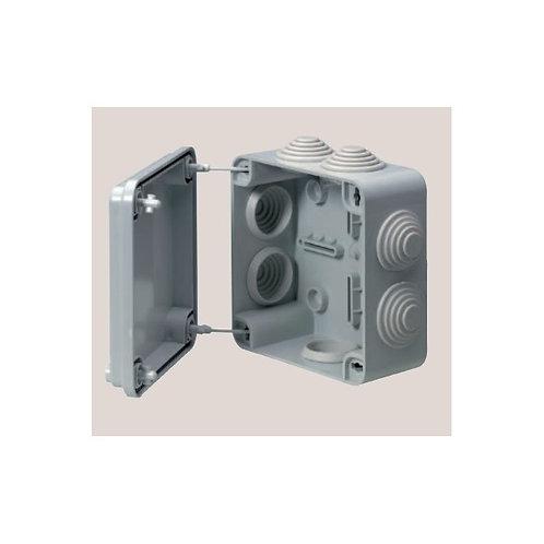 Boite de dérivation 105x105x55mm grise étanche IP55 7 entrées
