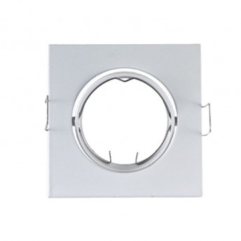 VISION-EL SUPPORT PLAFOND CARRÉ INCLINABLE BLANC 84 X 84 MM