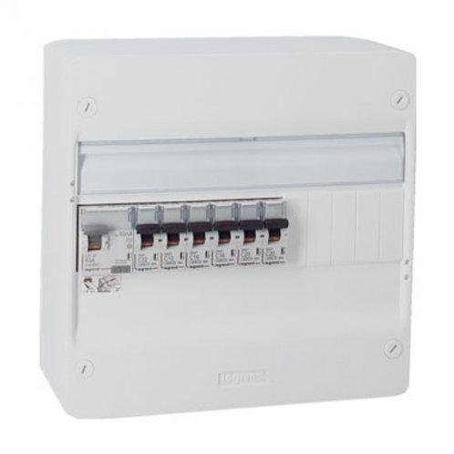 LEGRAND  Tableau électrique pré-cablé 1 rangée 1 id 40a 6 disjoncteurs
