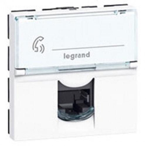 LEGRAND 076565  Mosaic Prise RJ45 catégorie 6 Blanc -