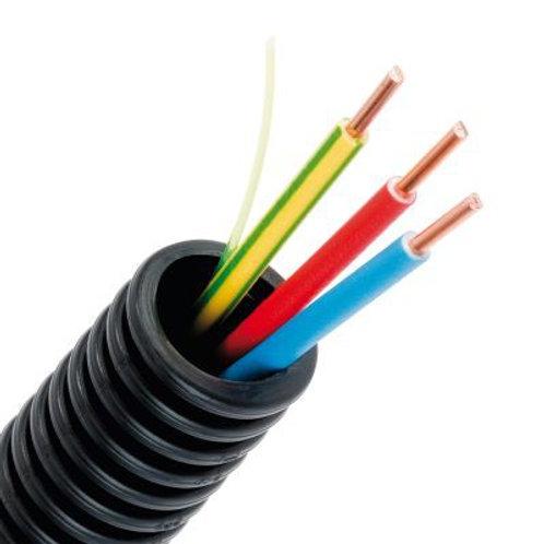 Gaine électrique ICTA préfilée 3G2.5 R/B/VJ D16  - Couronne de 100m