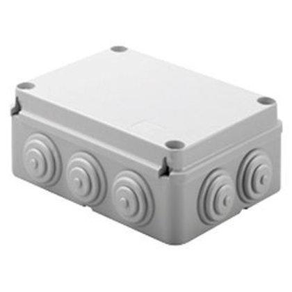 Boite de dérivation grise 190X140X70mm étanche à embouts IP55 couvercle vis isol