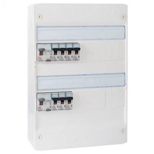 LEGRAND  Tableau électrique pré-cablé 2 rangées 2 id 40a 7 disjoncteurs