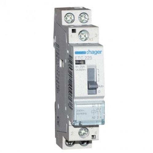 Hager - Contacteur Silencieux JN 25A - 2F - 230V - ETC225