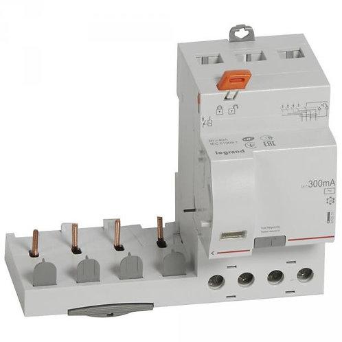 LEGRAND 410511 BLOC DIFFÉRENTIEL ADAPTABLE DX3-VIS-4P-400V~-40A-TYPE AC-300MA
