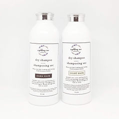 Non toxic dry shampoo in refillable packaging, aerosol free dry shampoo made in Canada