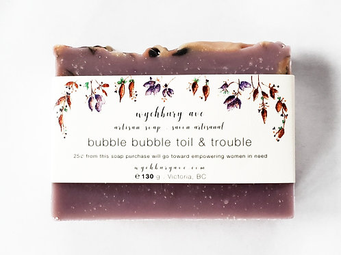Bubble Bubble Toil & Trouble Halloween Soap | Amber and Vetiver Handmade Soap