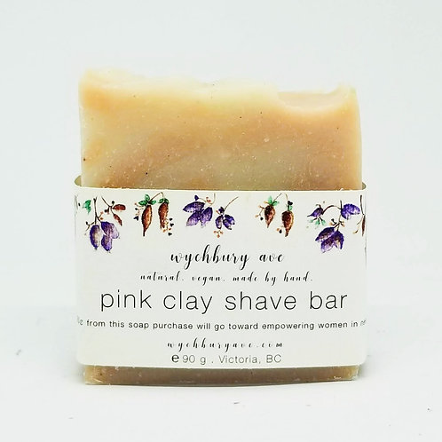 Pink Clay Shave Bar | Package-free Shaving Cream