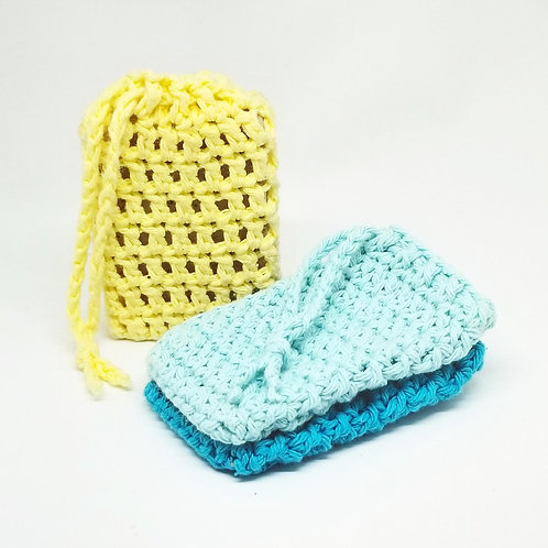 Soap on a Rope | Soap Savers | Soap Sack with Drawstring