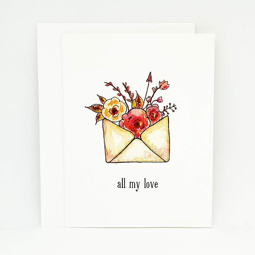 Love Letter Watercolour Greeting Card