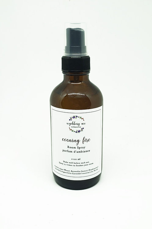 Evening Fire Room Spray   Natural Air Fresheners   Room Air Freshener