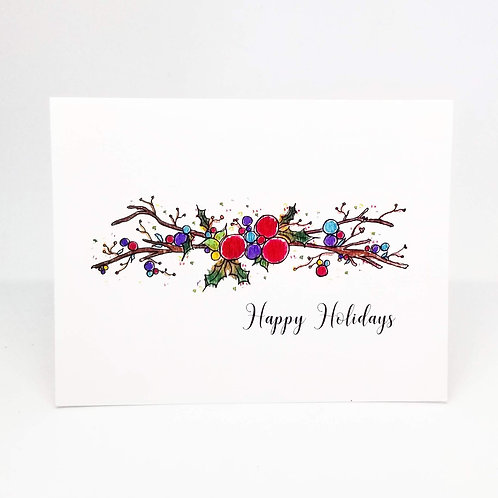 Happy Happy Holidays Greeting Card