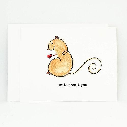 Cute Valentine's Day Card / Squirrel Card