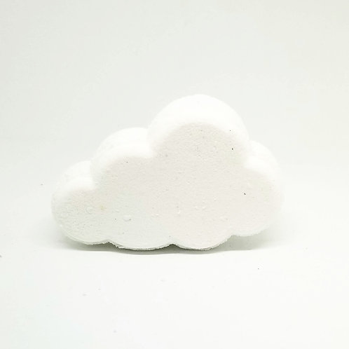 Shea Butter Rainbow Cloud Bath Bomb on white background