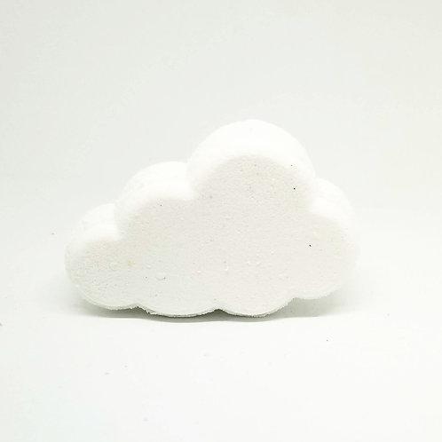 Shea Butter Rainbow Cloud Bath Bomb on white background