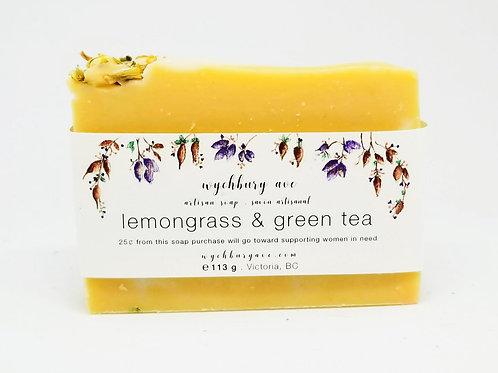 Lemongrass & Green Tea Palm-free Soap | Paraben-free Handmade Soap