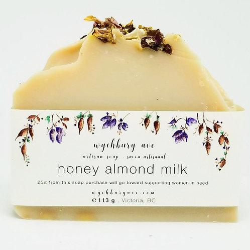 Honey Almond Milk Handmade Soap | Canadian Made Bar Soap