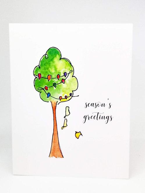Whimsical Season's Greetings Holiday Card