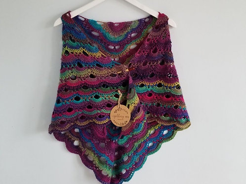 Stained Glass Crochet Shawl & Scarf
