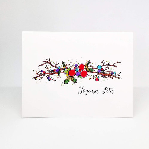 Joyeuses Fêtes French Greeting Card