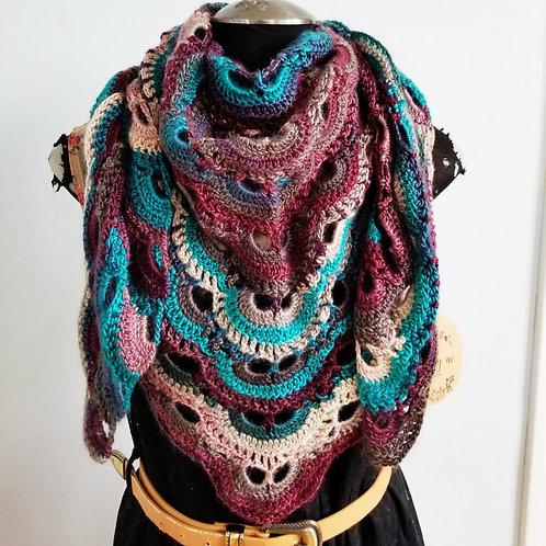 Partridge Berry Crochet Scarf & Shawl
