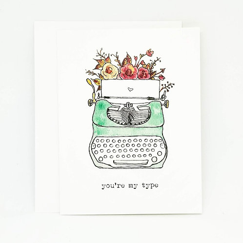 Vintage Watercolour Valentine's Day Card